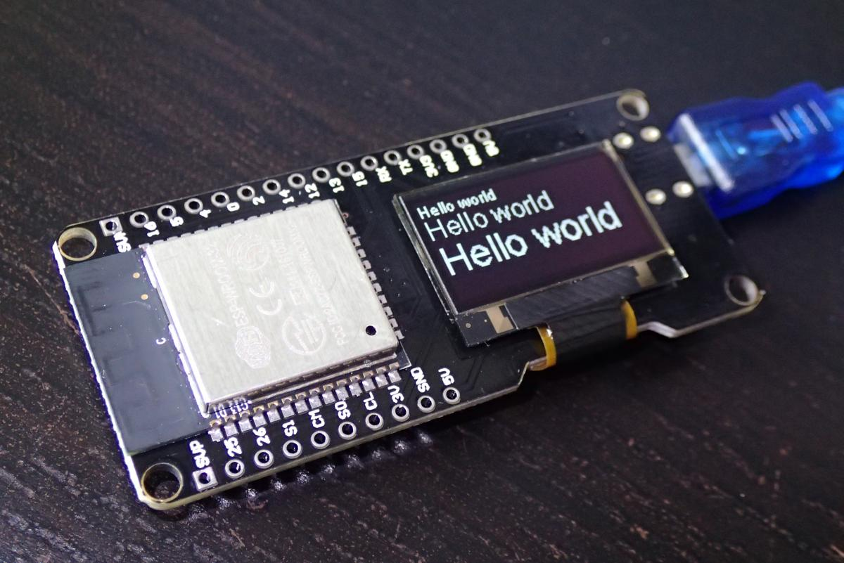 MicroPython on ESP32 with OLED SSD1306 | ezContents blog