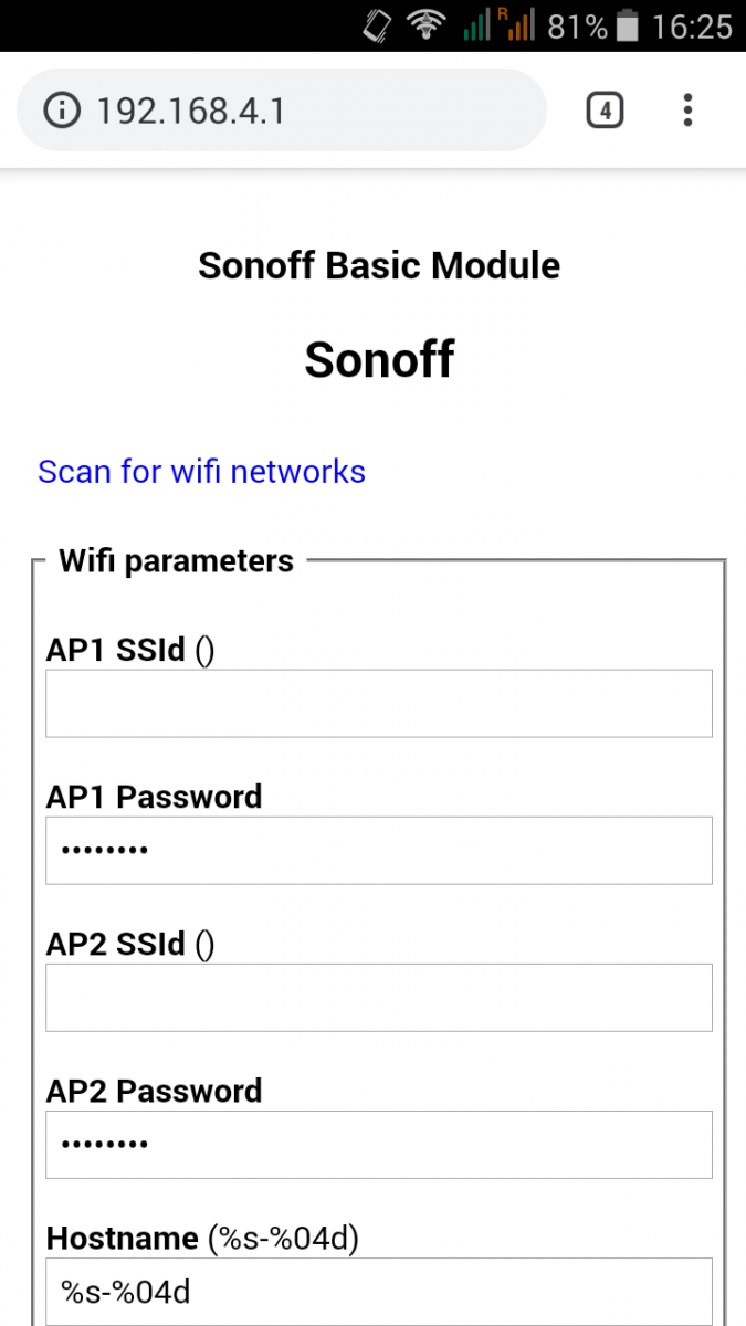 Installing Sonoff-Tasmota firmware | ezContents blog
