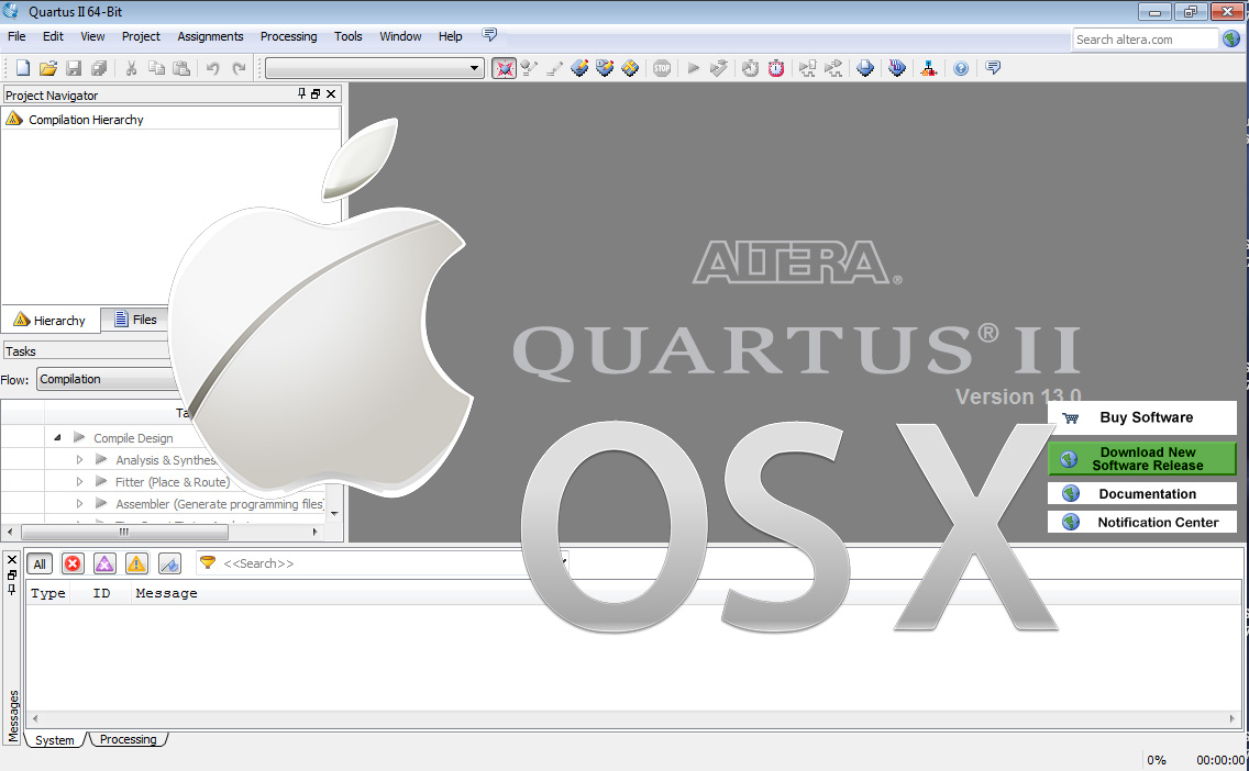 Altera Quartus on Mac OSX | ezContents blog