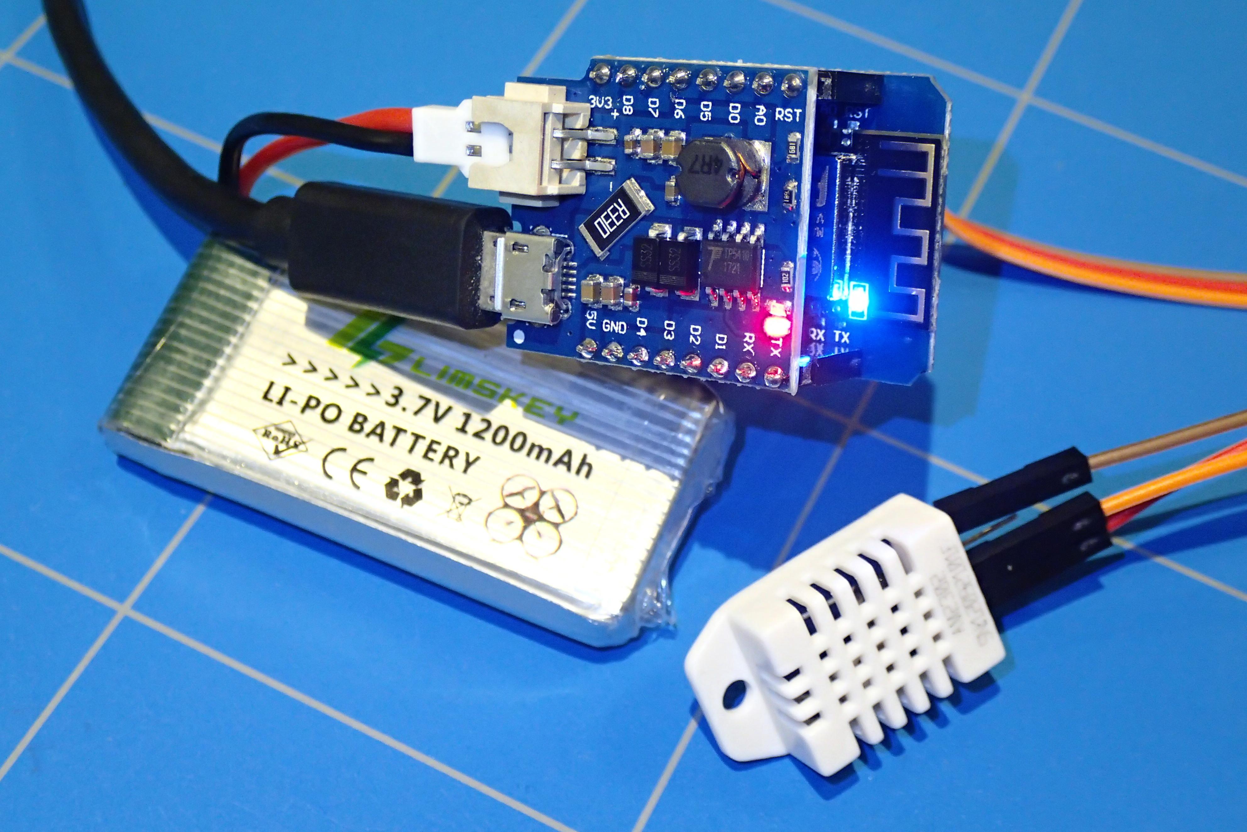 WeMos D1 Mini temperature server   ezContents blog