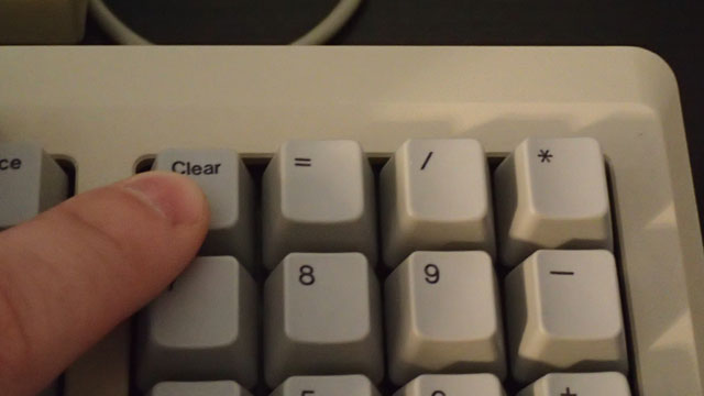 Pressing Clear key