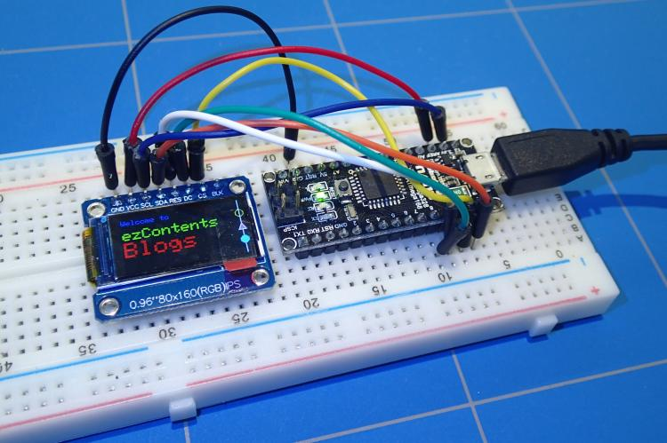Small IPS Color Display with Arduino Nano