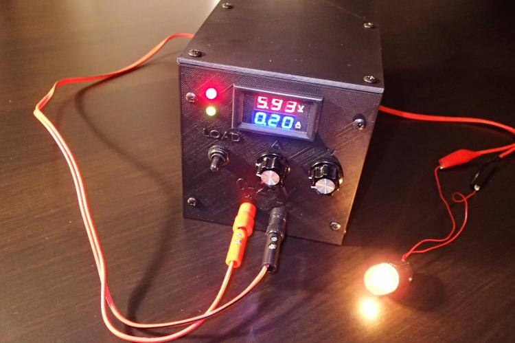 Self made bench power supply