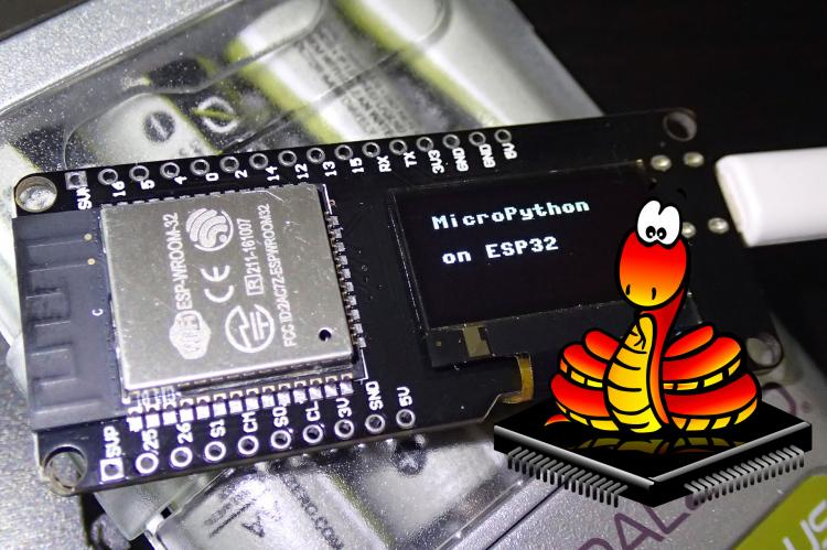 Micropython on EPS32 with SSD1306