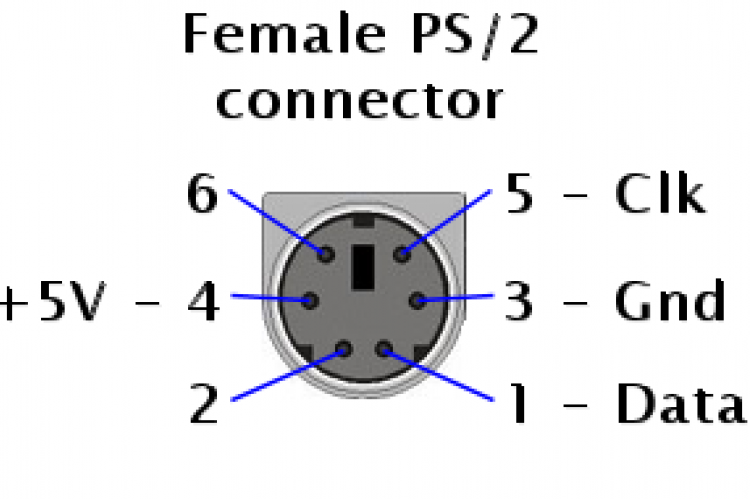 ps 2 pinout diagram