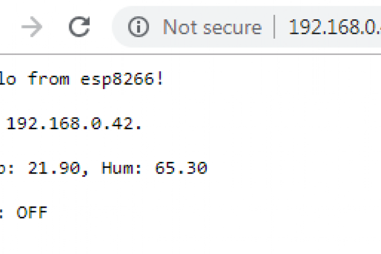 WeMos D1 Mini temperature server | ezContents blog
