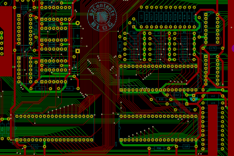 KiCad Atari 800XL PCB (part)