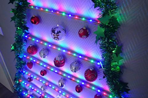 2D LED Strip Christmas Tree