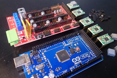 RAMPS 1.4 with Arduino MEGA 2560