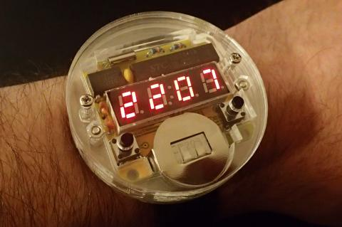 DIY LED watch