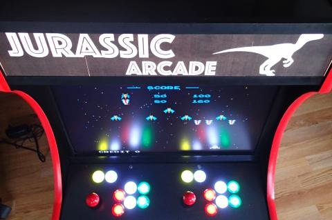 Bartop arcade cabinet marquee and leds