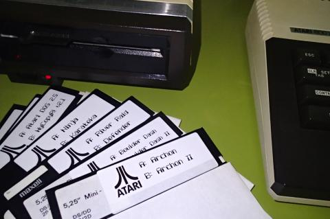 5 1/4 Atari XL Floppy disks