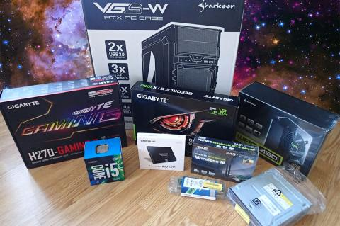 Gaming PC build components
